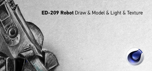 ED-209 Robot Draw & Model & Light & Texture