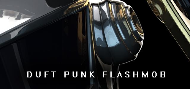 Daft Punk Bus Moscow FlashMob